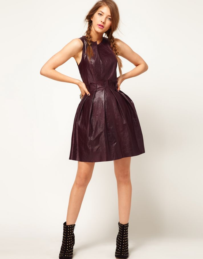 Stylish Bridesmaid Dresses from Asos 2013 Bridal Party Trends Leather wine