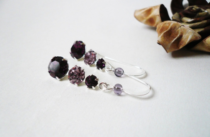 Elegant Amethyst Wedding Jewelry Bridal Accessories 3