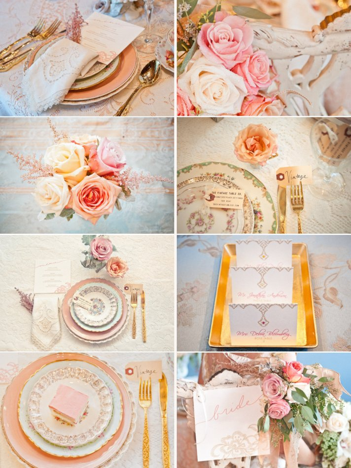Peach Gold Cream Wedding Color Inspiration