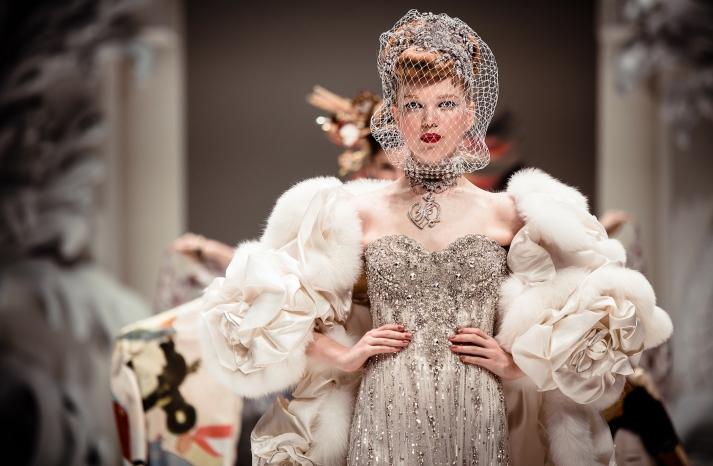 Dramatic Bridal Couture Yumi Katsura 2013 Wedding Dress Bridesmaid Gowns 3