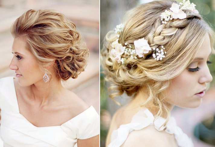 Sweet Bridal Updos Romantic Wedding Hairstyles blond brides