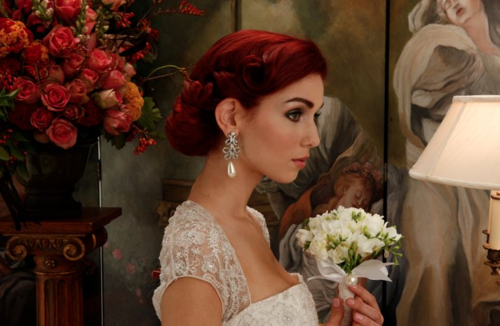 Romantic Bridal Updos soft waves wedding hairstyles 4