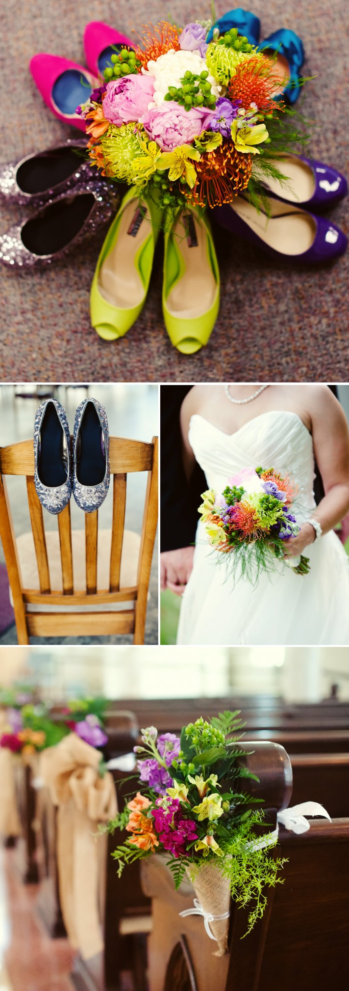 Wedding Flowers For Venue : Sweet summer wedding infused with color onewed