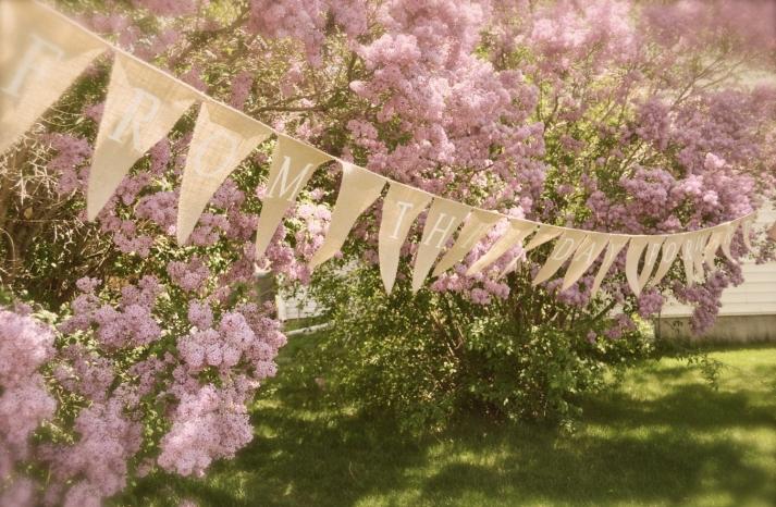 Spring Wedding Decor Burlap Bunting