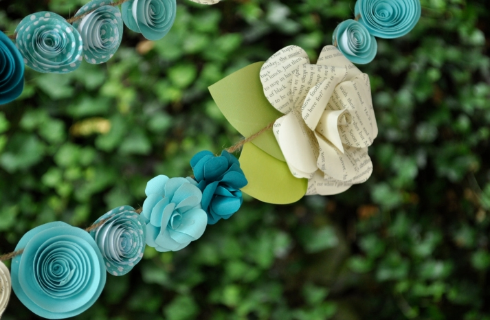 Paper Flower Wedding Garland