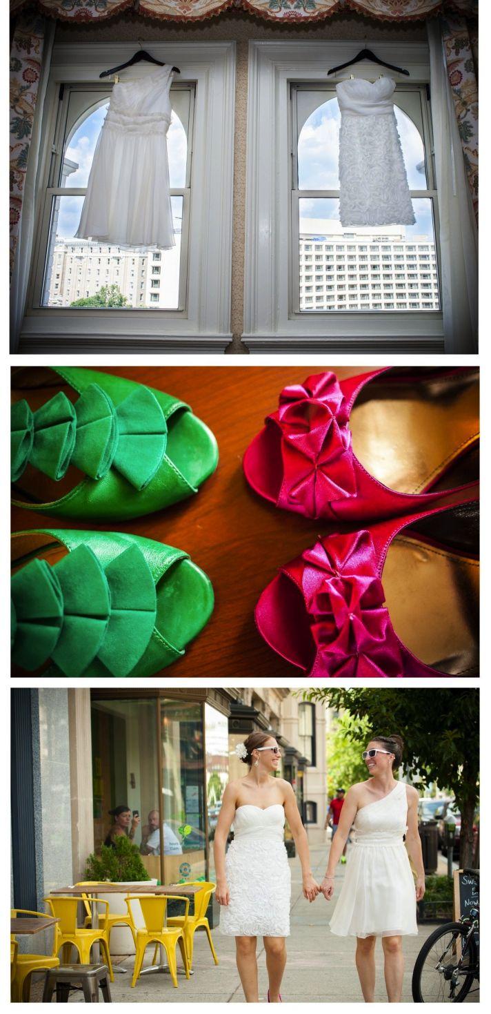 real wedding EKL daleywarden washington dc shoes dress couple