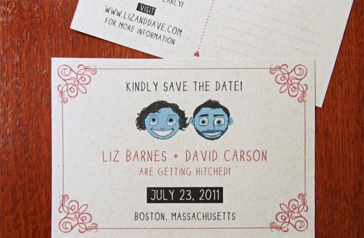 Funky Wedding Invitation Offbeat