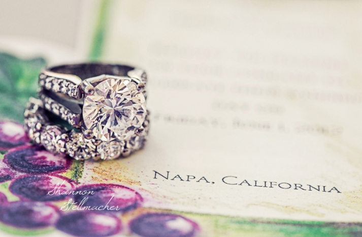 Dazzling Engagement Ring Wedding Photo Napa CA