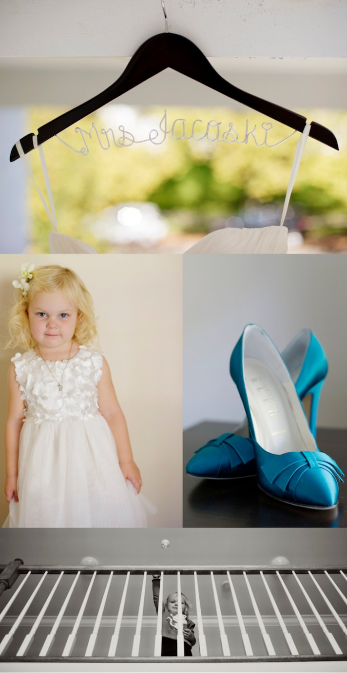 Classic Fall Wedding in New Jersey- Custom Bridal Hanger, Cute Flower Girl