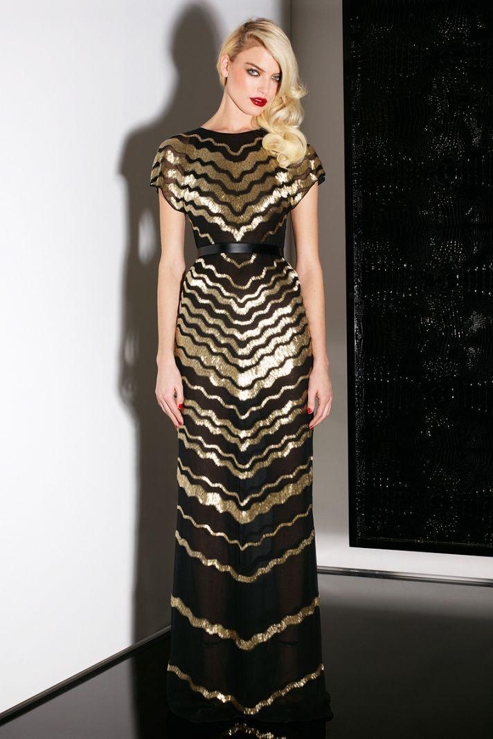 Glam Black and Gold Bridesmaid Dress, Jason Wu Pre-Fall 2013