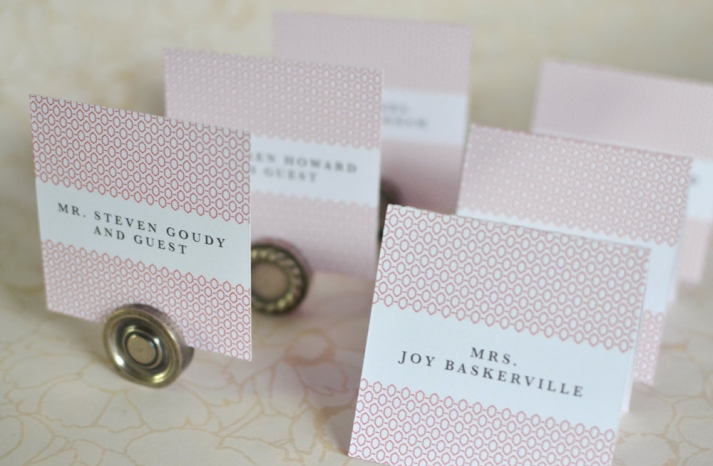 Geometric Art Deco Wedding Escort Cards