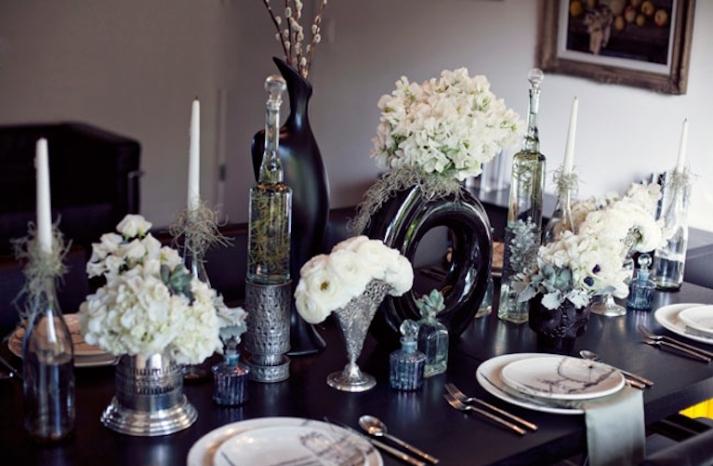 Modern Vintage Wedding Tablescape