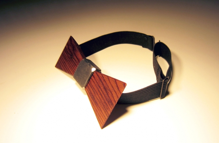Wood Bow Tie for the Funky Groom