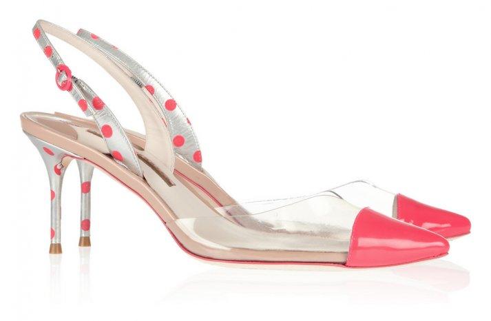 Pretty Pink Polka Dot Wedding Shoes