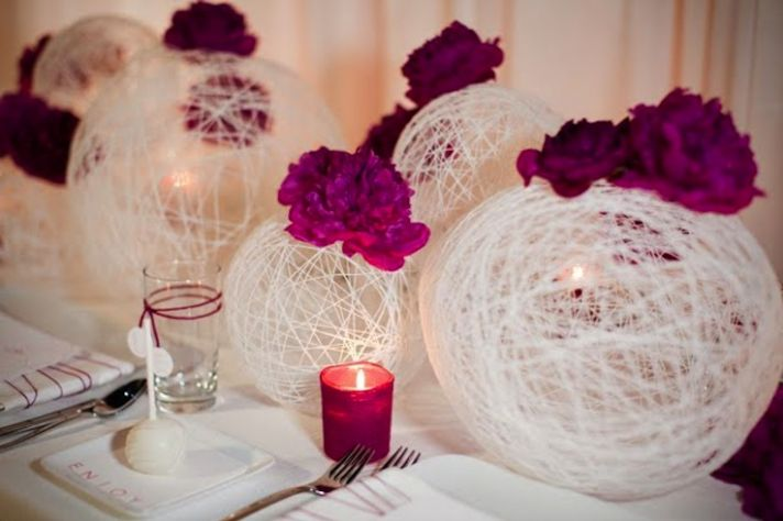 Fuschia Pink Wedding Flowers and Reception Decor