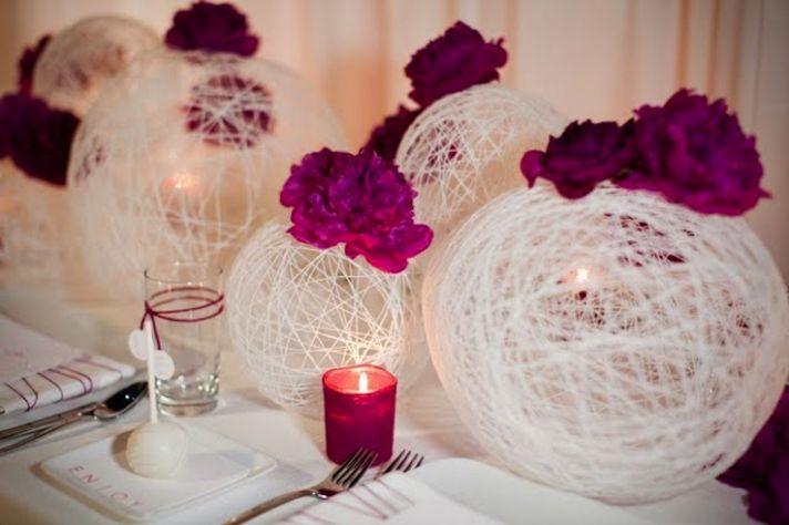 Fuschia Pink Wedding Flowers and Reception Decor