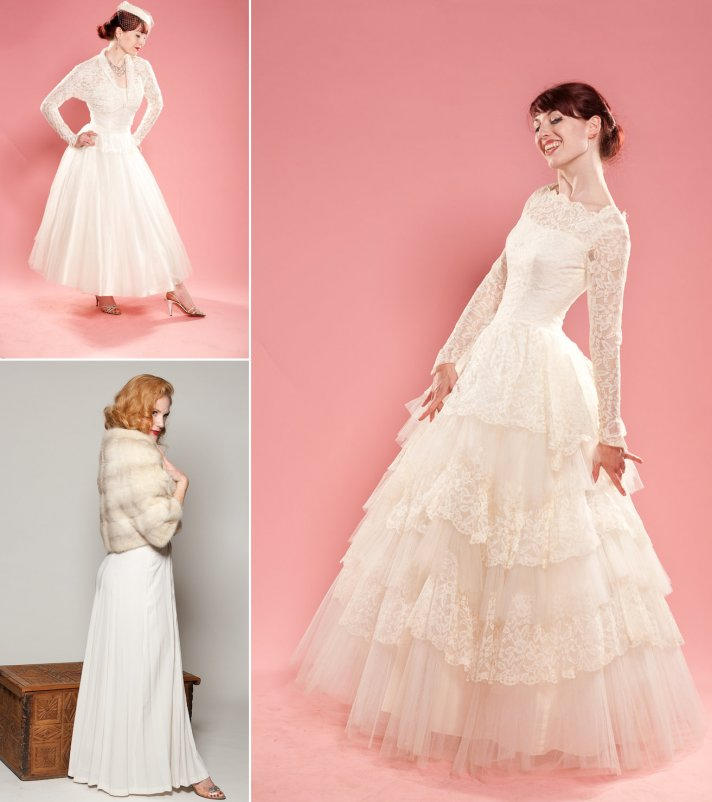 1950s Bridal Style for Vintage Weddings