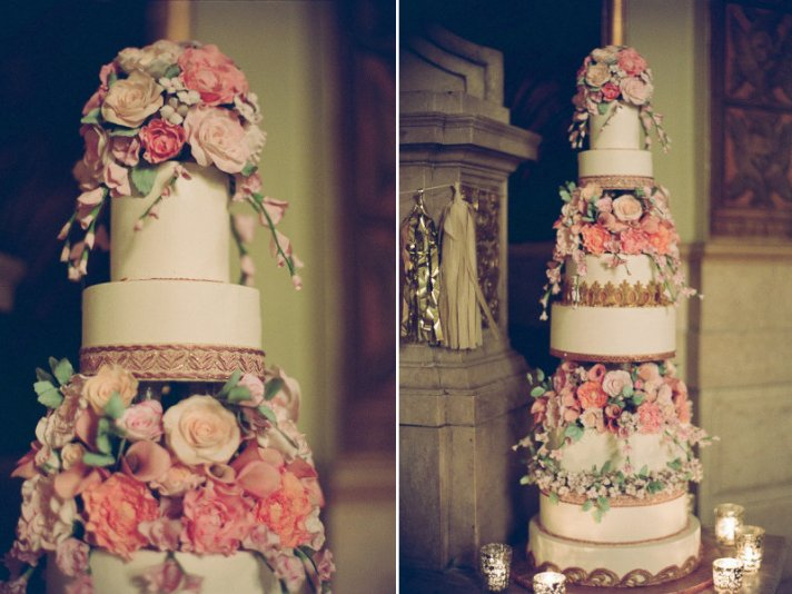 Regal Elegance Wedding Cake
