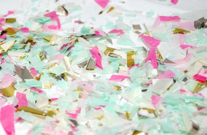 Pastel and Metallic Wedding Confetti