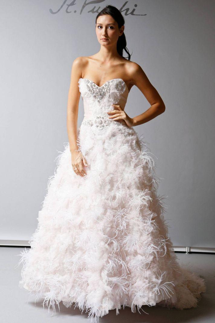 2013 Wedding Dress St Pucchi Bridal light pink embellished