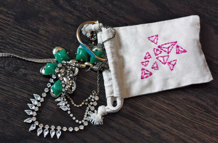 DIY Jewelry Pouch for Bridesmaids