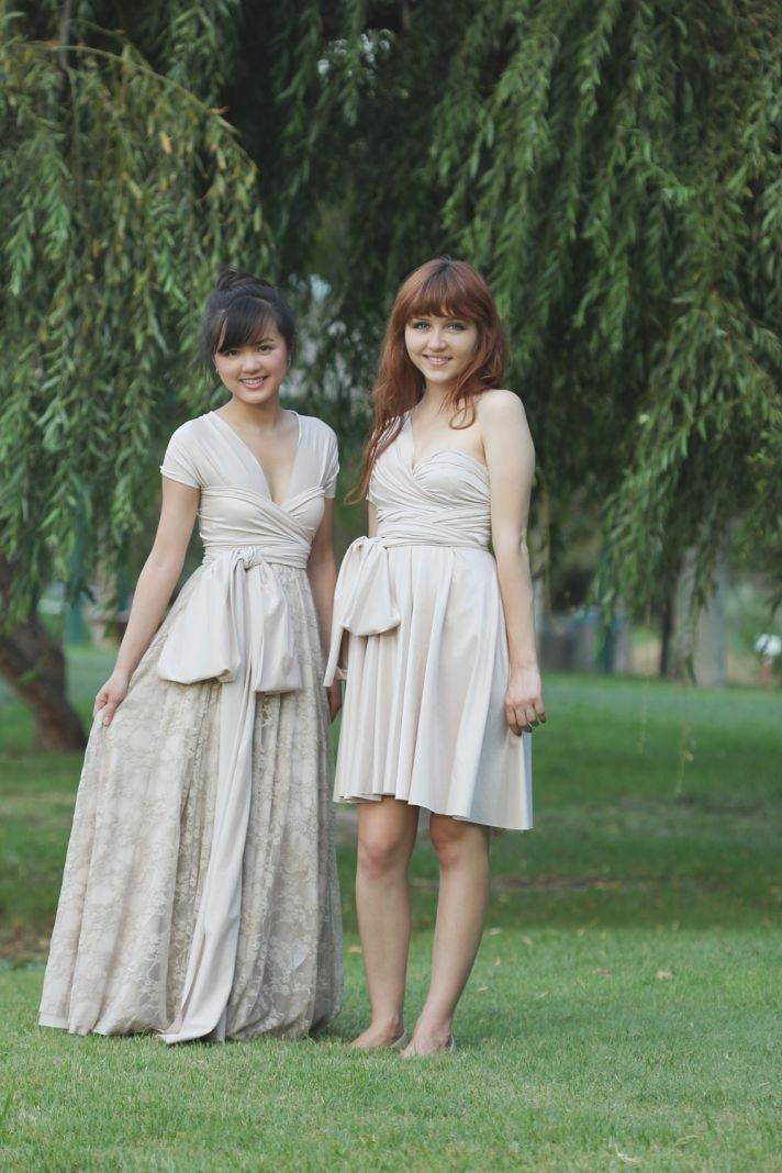 Convertible Bridesmaid Dresses in Neutrals