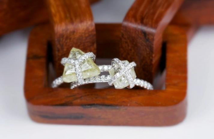 Unique Rough Cut Diamond Engagement Rings Diamonds in the Rough