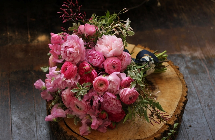 Classic Romantic Pink Bridal Bouquet