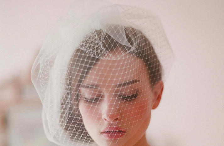 Tulle and Net Birdcage Bridal Veil