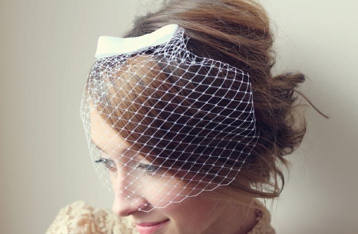 Mini Birdcage Veil with Bow