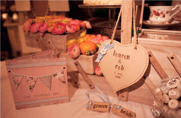 Rustic Stitched Wedding Reception Decor