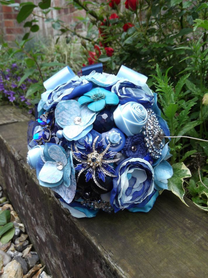 Something Blue Alternative Bridal Bouquet