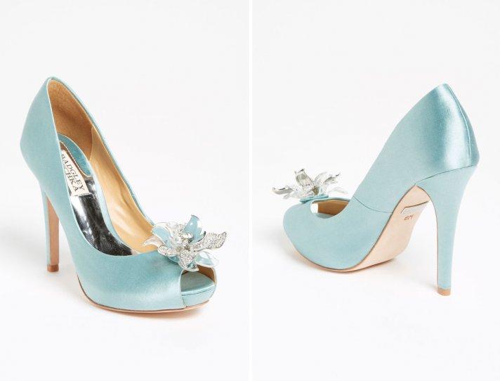 Badgley Mischka Blue Wedding Shoes