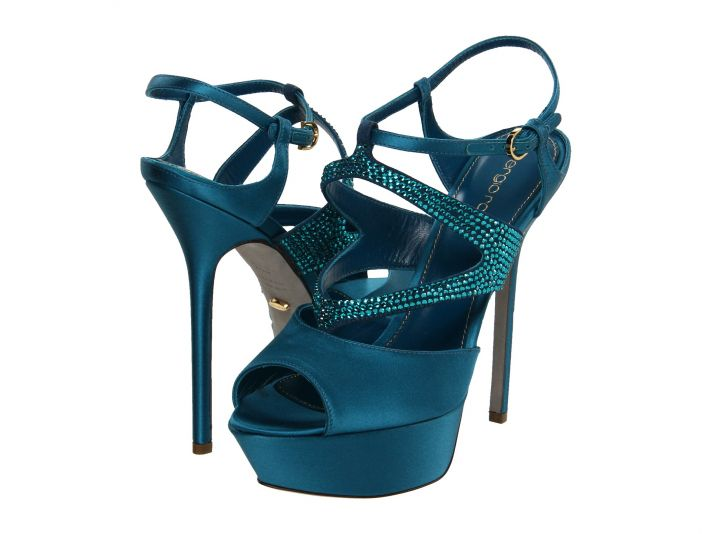 Something Blue Deep Teal Wedding Shoes