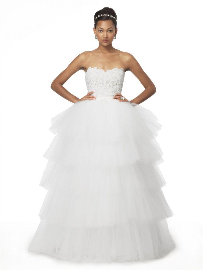 2 in 1 Wedding Dresses for 2013 Oscar de la Renta