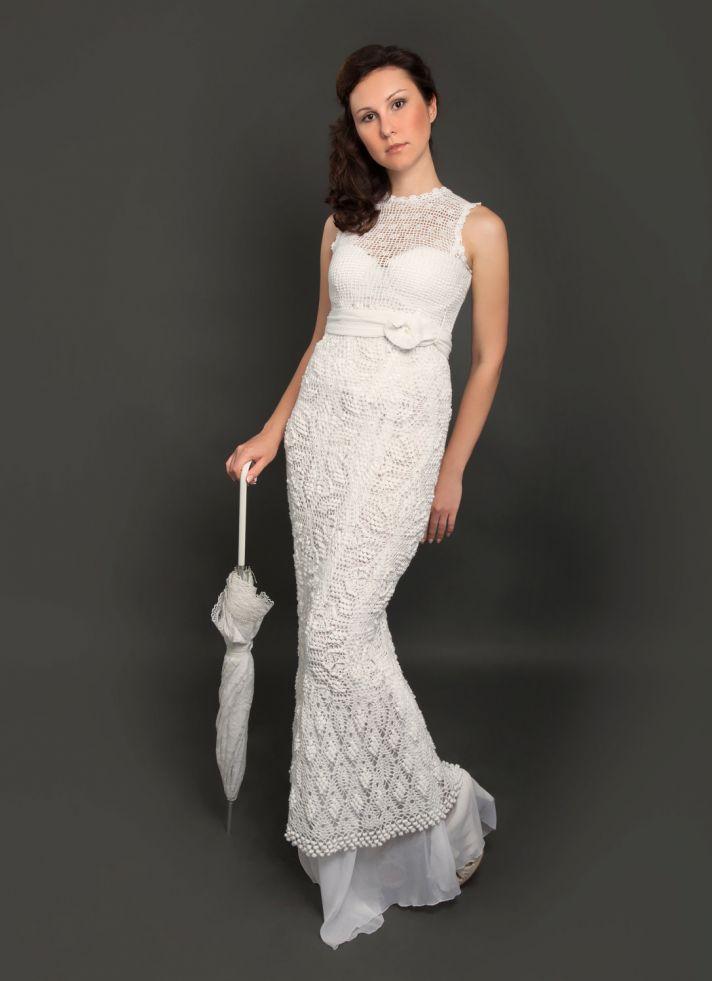 Vintage Crochet Wedding Dress Mermaid