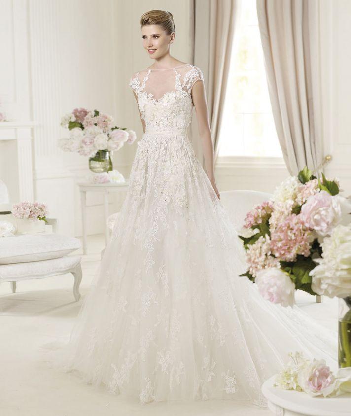 Illusion Neckline 2013 Wedding Dress Elie Saab Monceau