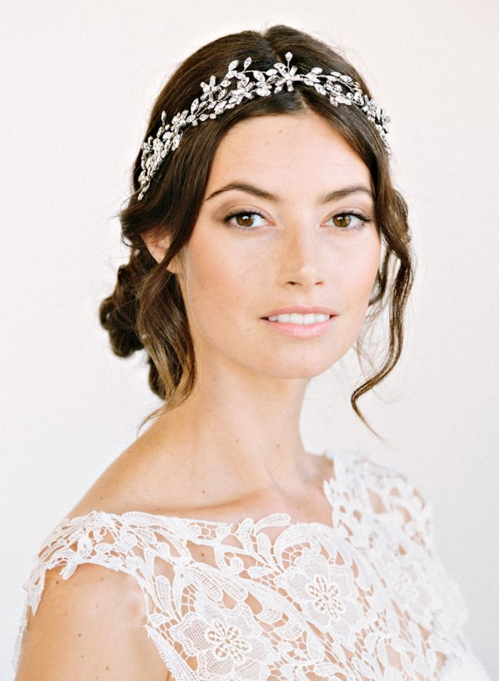Crystal bridal headband by Amanda Judge