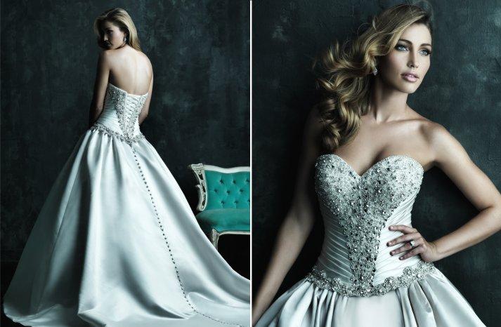 2013 Sweetheart Neckline Wedding Dresses Allure Couture C240 2