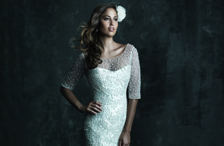 Sweetheart Neckline Wedding Gowns Allure Couture C246F