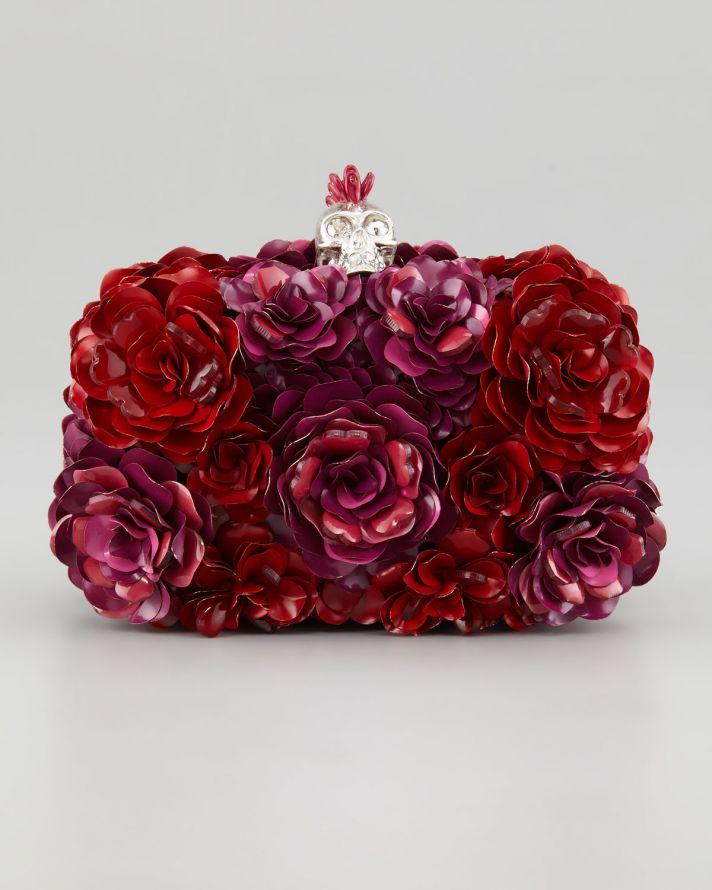 Red Rose Bridal Clutch by Alexander McQueen