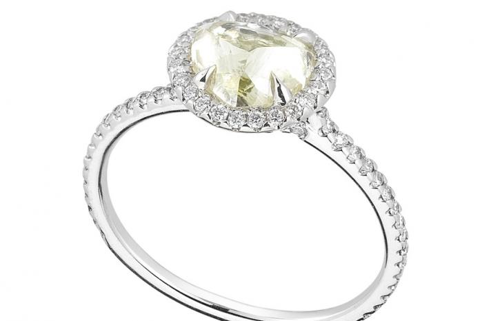 Unique Engagement Ring Diamond In The Rough 3D565 1 70 B