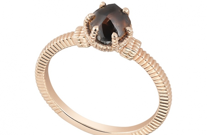 Unique Engagement Ring Diamond In The Rough 3D345 1 09 B