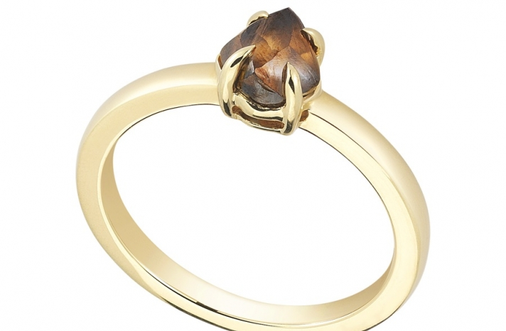 Unique Engagement Ring Diamond In The Rough 3D274 1 25 B