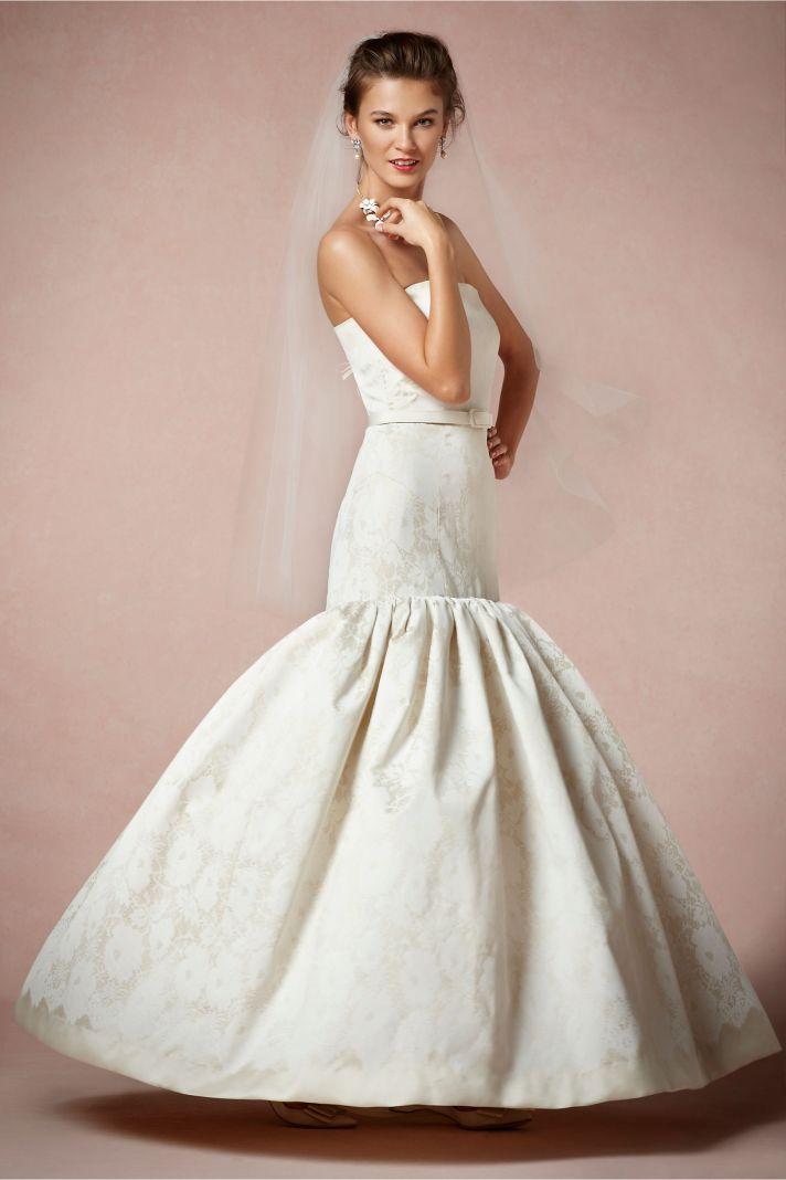 Strapless Mermaid Wedding Dress Vintage Inspired