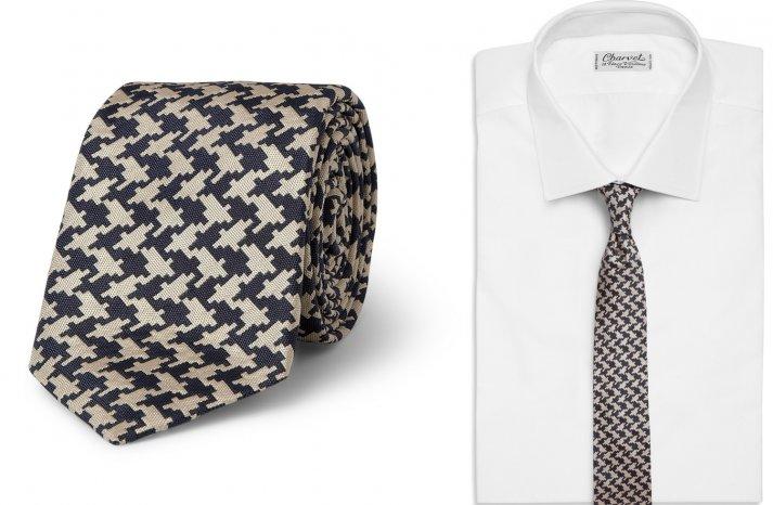 Houndstooth Grooms Tie