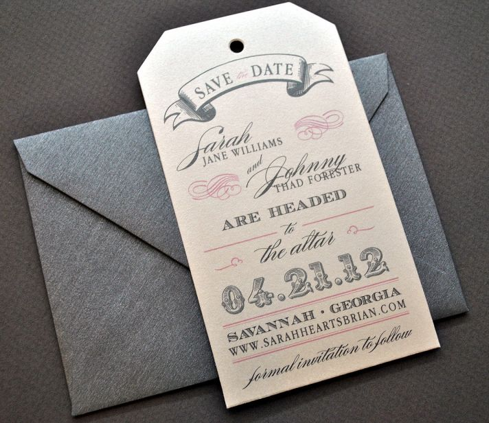 Romantic Save the Date Luggage Tags