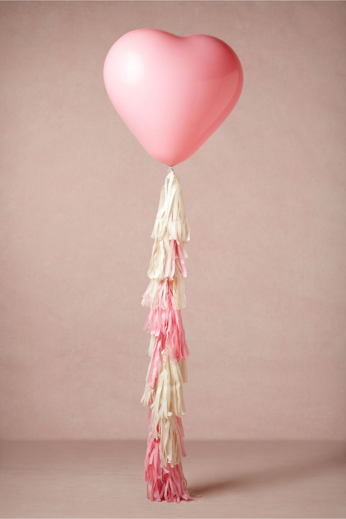 Balloons for the Wedding Pink Heart Shaped