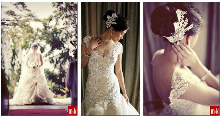 Beaded Illusion Neckline Wedding Dress 3