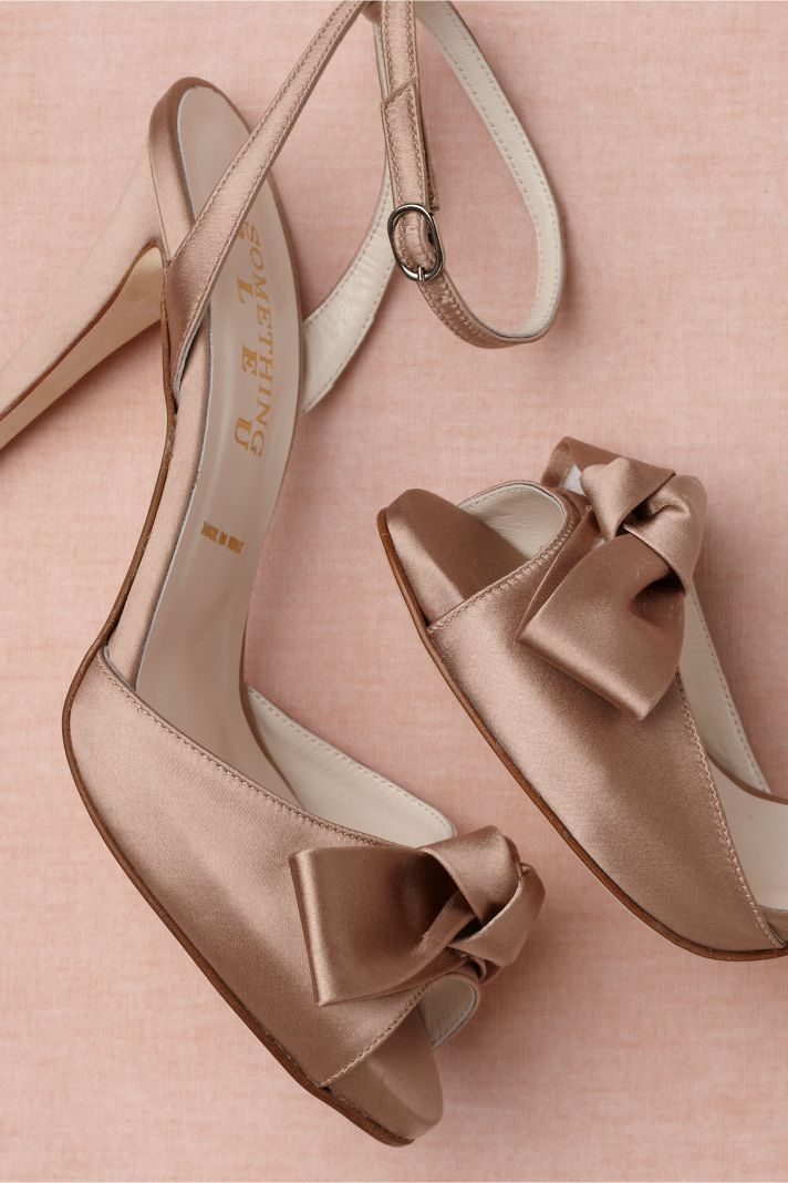 Retro Wedding Shoes from BHLDN mauve satin